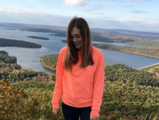 Kelly Connelly at Pinnacle Mountain's best view